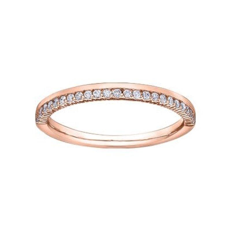 10K Rose Gold (0.15ct) Diamond Stackable Wedding Band