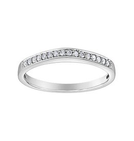 10K White Gold (0.11ct) Diamond Stackable Band