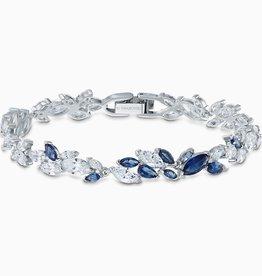 Swarovski Swarovski Louison Bracelet, Blue, Rhodium Plated