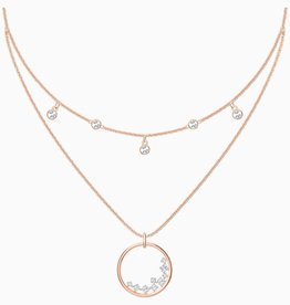 Swarovski Swarovski North Necklace, White, Rose Gold Tone Plated