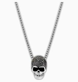 Swarovski Swarovski Taddeo Skull Pendant, Black, Mixed Metal Finish
