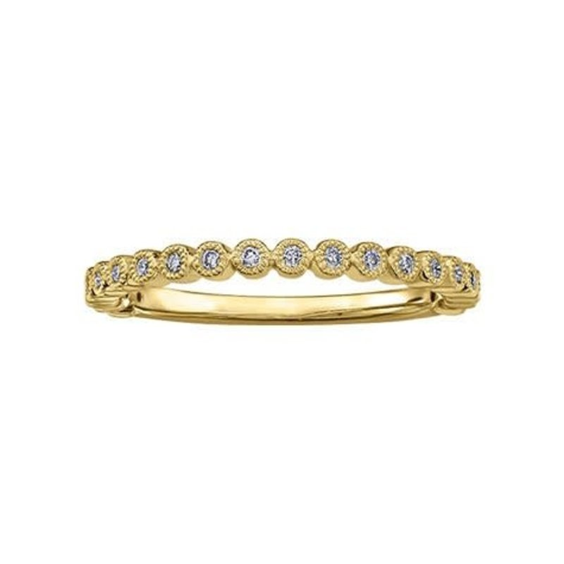 Yellow Gold (0.10ct Diamond Stackable Band