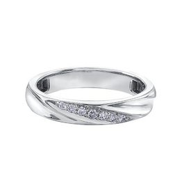 10K Ladies White Gold Diamond Band