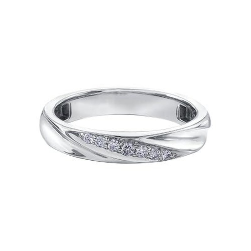 10K White Gold (0.10ct) Diamond Ladies Band