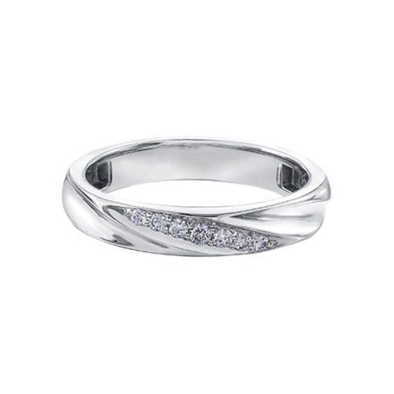 10K White Gold (0.10ct) Diamond Wedding Band