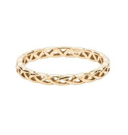 Keith Jack 10K Keith Jack Yellow Gold Weave Knot Tulla Band