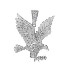 Sterling Silver CZ Eagle Pendant