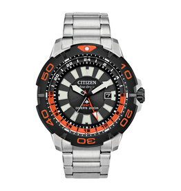 Citizen Citizen Promaster Diver GMT Men's Eco Drive Silver Tone Rotating Bezel Watch