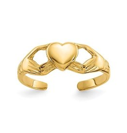 Yellow Gold Claddagh Toe Ring