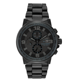 Citizen Citizen Nighthawk Men's Eco Drive Black Tone Chronograph Watch