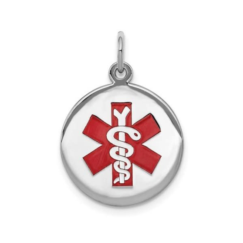 Sterling Silver (16mm) Medical ID Pendant