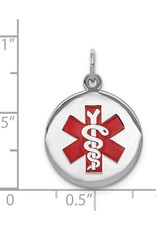 Sterling Silver (19mm) Medical ID Pendant