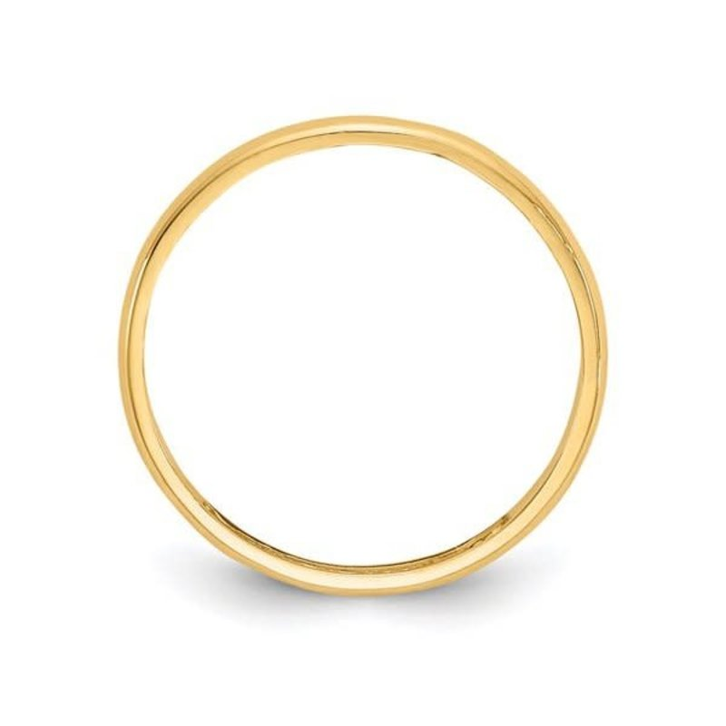 Yellow Gold (2mm) Baby Plain Band Ring (10K ,14K)