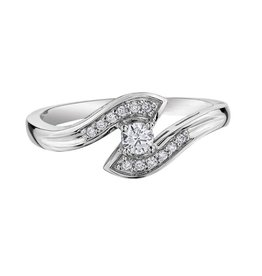 I am Canadian 10K White Gold (0.15ct) Canadian Diamond Ring