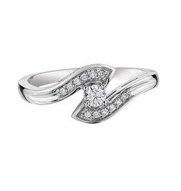I am Canadian 10K White Gold (0.16ct) Canadian Diamond Engagement Ring