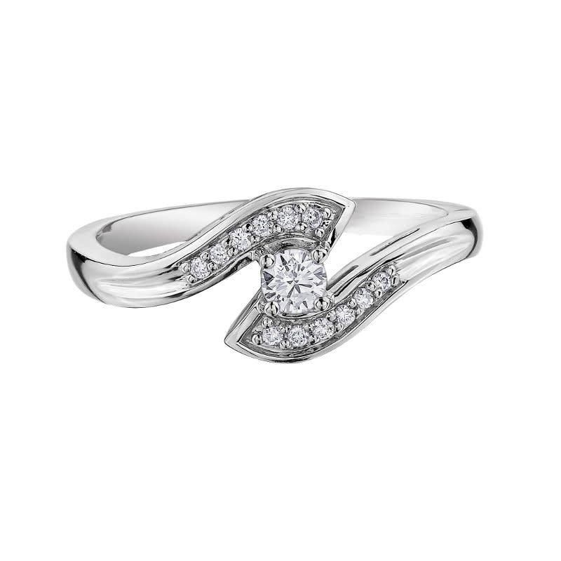 I am Canadian 10K White Gold (0.15ct) Canadian Diamond Ring