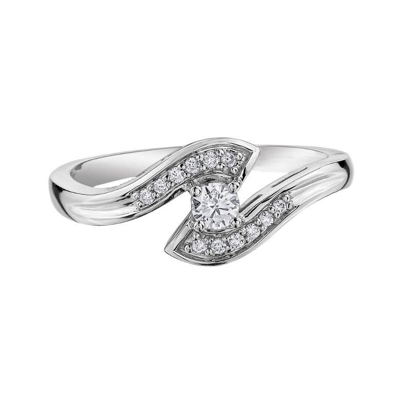 I am Canadian 10K White Gold (0.16ct) Canadian Diamond Engagement Ring