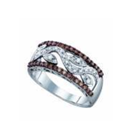 10K White Gold (0.48ct) Brown and White Diamond Ring