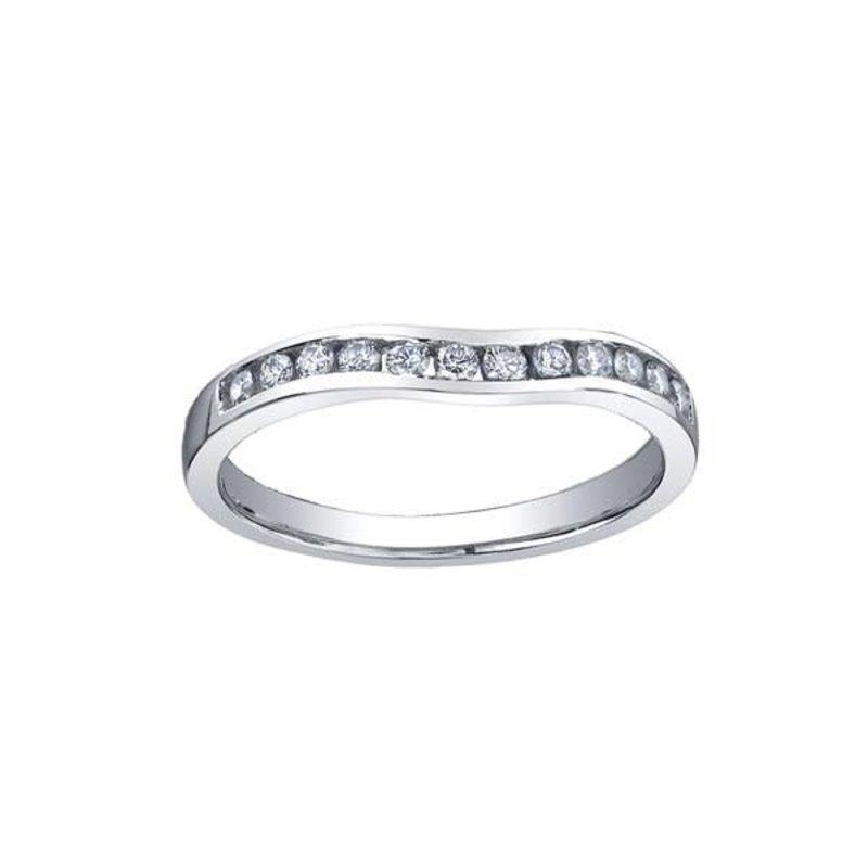 10K White Gold (0.11ct) Diamond Matching Wedding Band