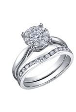 10K White Gold (0.06ct) Cluster Diamond Ring