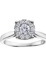 10K White Gold (0.08ct) Cluster Diamond Ring