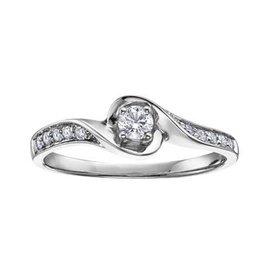 10K White Gold (0.20ct) Canadian Diamond Engagement Ring