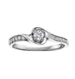 10K White Gold (0.20ct) Canadian Diamond Promise Ring