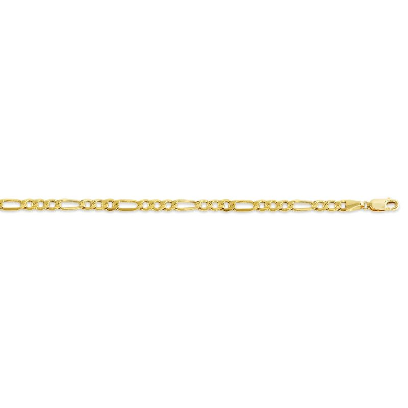 10K Yellow Gold (5.1mm) Hollow Figaro Bracelet 8.5""