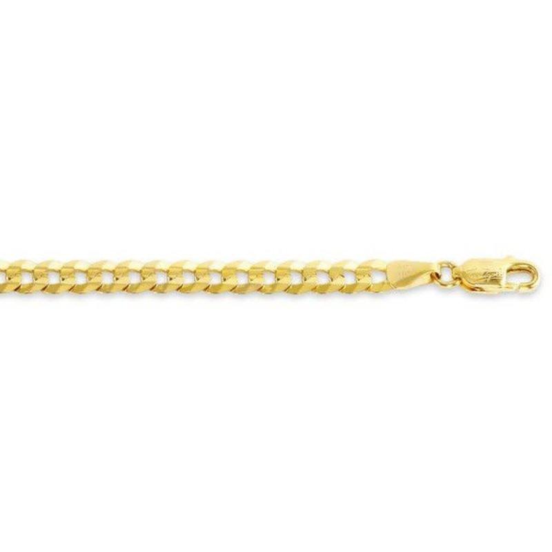 "10K Curb Yellow Gold 5.5mm Men's Curb Bracelet 8.5"""