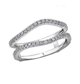 14K White Gold (0.34ct) Pavee Set Diamond Ring Jacket / Enhancer