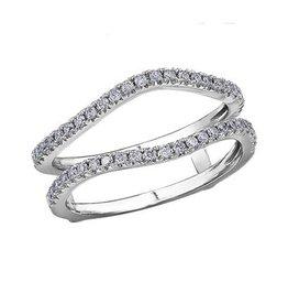 14K White Gold Diamond (0.34ct) Ring Guard Enhancer