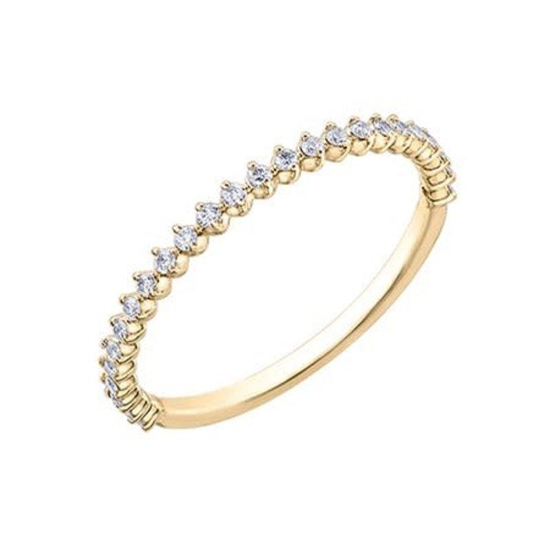10K Yellow Gold (0.25ct) Diamond Stackable Wedding Band