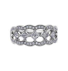 Maple Leaf Diamonds 14K White Gold Maple Leaf (0.75ct) Princess Cut Canadian Diamond Fancy Statement Ring