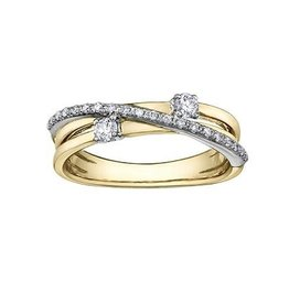 I am Canadian 10K Yellow and White Gold (0.25ct) Canadian Diamond Perfect Together Ring