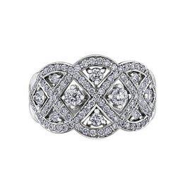 Maple Leaf Diamonds 14K White Gold (1.02ct) Canadian Diamond Fancy Statement Ring