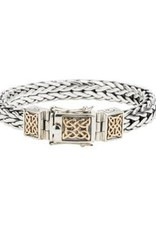 Keith Jack Keith Jack Dragon Weave Two Tone Sterling Silver & 10K Yellow Gold Bracelet