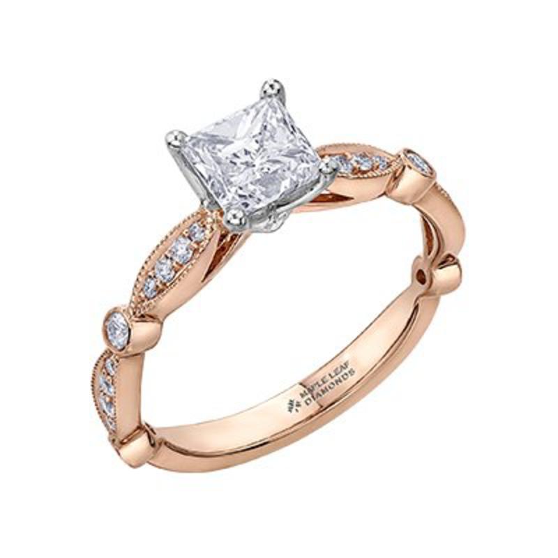 18K Princess Shaped (0.58ct) Canadian Diamond Ring