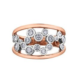 14K White and Rose Gold (0.50ct) Diamond Right Hand Ring