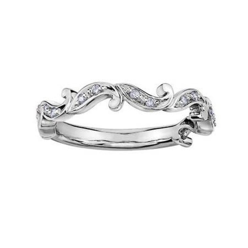 10K White Gold (0.84ct) Diamond Stackable Wedding Band