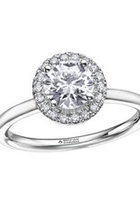 Maple Leaf Diamonds 18K White Gold (0.58ct) Halo Canadian Diamond Engagement Ring
