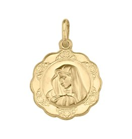 Yellow Gold Mary Madonna Large (10K, 14K, 18K) Pendant