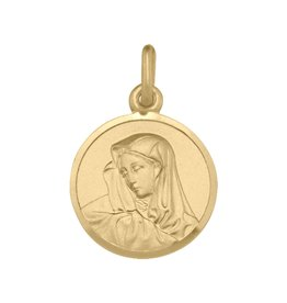 Yellow Gold Mary Madonna Solid (10K, 14K, 18K) Pendant