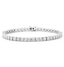 14K White Gold (2.00ct) Diamond Tennis Bracelet