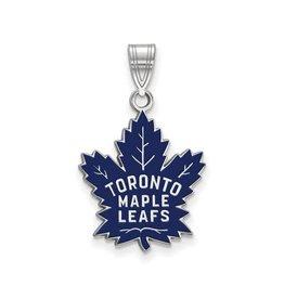 NHL Licensed NHL Licensed (Large) Maple Leafs Sterling Silver Enamel Pendant