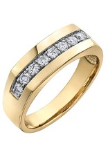Crown Ring (10K, 14K) Yellow Gold (0.50ct) Diamond Men's Ring