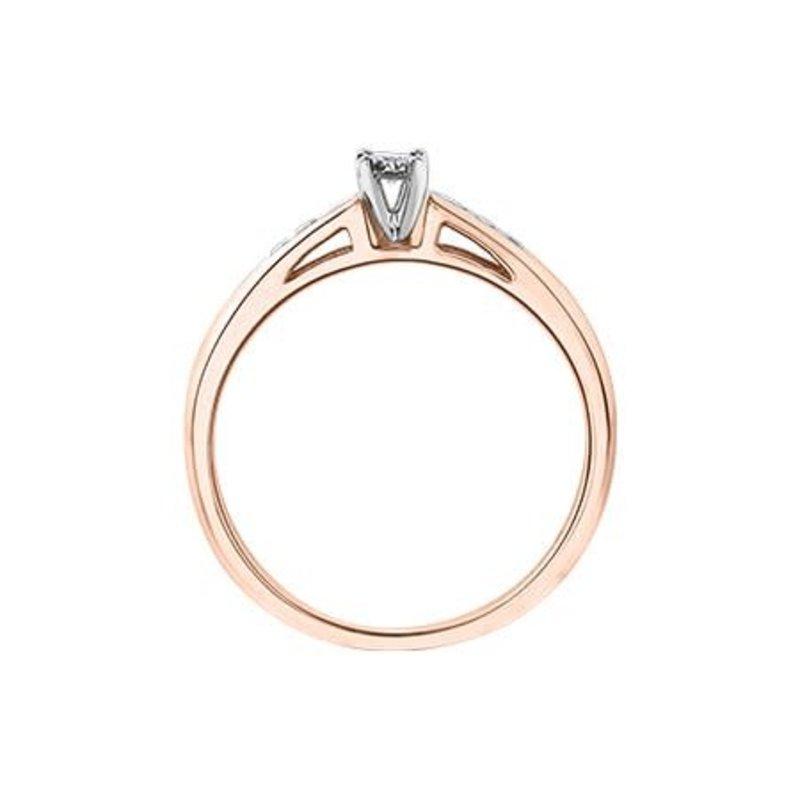 10K Rose Gold (0.14ct) Diamond Illusion Setting Promise Ring