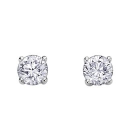 White Gold Canadian Diamond (0.15ct - 1.00ct) Stud Earrings