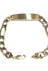 "10K Yellow Gold (8.6mm) Mens Figaro ID Bracelet 8.5"""