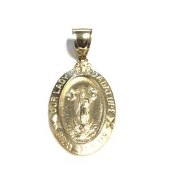 10K Yellow Gold Our Lady of Guadalupe Pendant