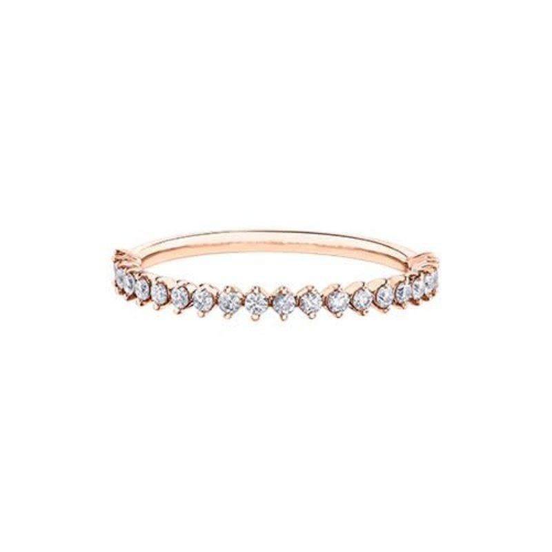 10K Rose Gold (0.25ct) Diamond Stackable Wedding Band